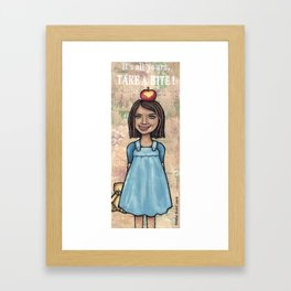 Its All Yours - Take A Bite Framed Art Print