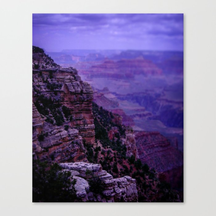 Purple Grand Canyon Canvas Print