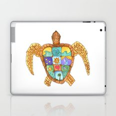Sunny Sea Turtle Laptop & iPad Skin