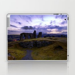 Crow Crag Castle at dusk Laptop & iPad Skin