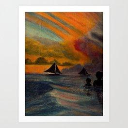 Boracay Sunset 1 Art Print