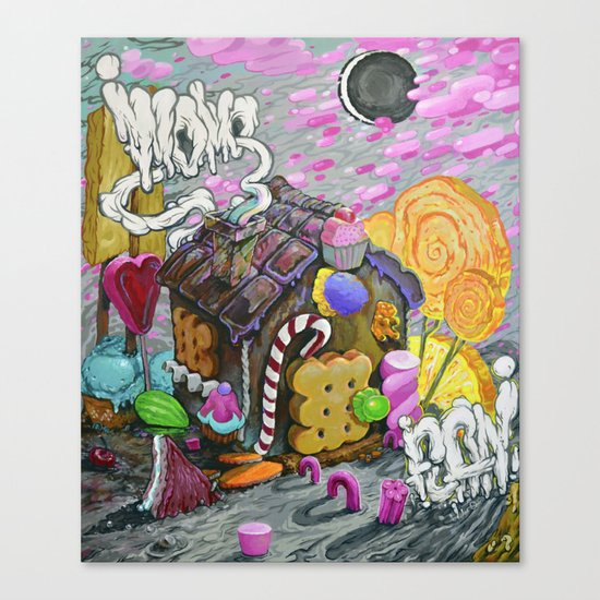 candy house Canvas Print