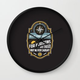Stay The Course Wall Clock