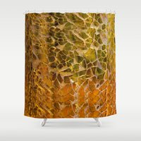 glass Shower Curtains featuring Glass by Veronika
