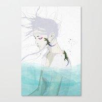 lizard Canvas Prints featuring Lizard by SEVENTRAPS