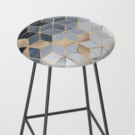 Soft Blue Gradient Cubes Bar Stool