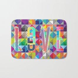 L O V E - Multicolor Bath Mat
