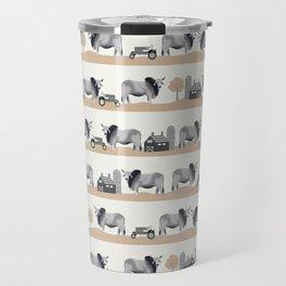 Brahman cattle breed farm gifts cow homestead animal sanctuary Travel Mug