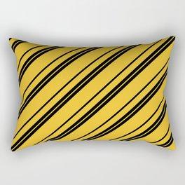 Potterverse Stripes - Hufflepuff Yellow Rectangular Pillow