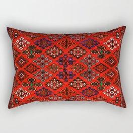 -A30- Red Epic Traditional Moroccan Carpet Design. Rectangular Pillow