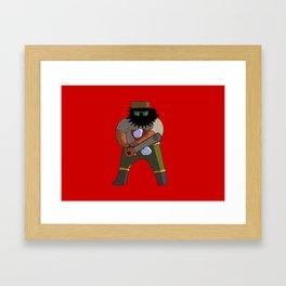Chainsaw guy Framed Art Print