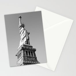 Statue of Liberty in black and white Stationery Cards