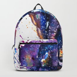 Watercolor Elephant Om Yoga Splatters Backpack