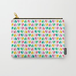 Large Pastel Love Hearts Carry-All Pouch