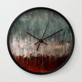 Solitude is like a rain Wall Clock