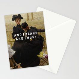 and i yearn Stationery Cards