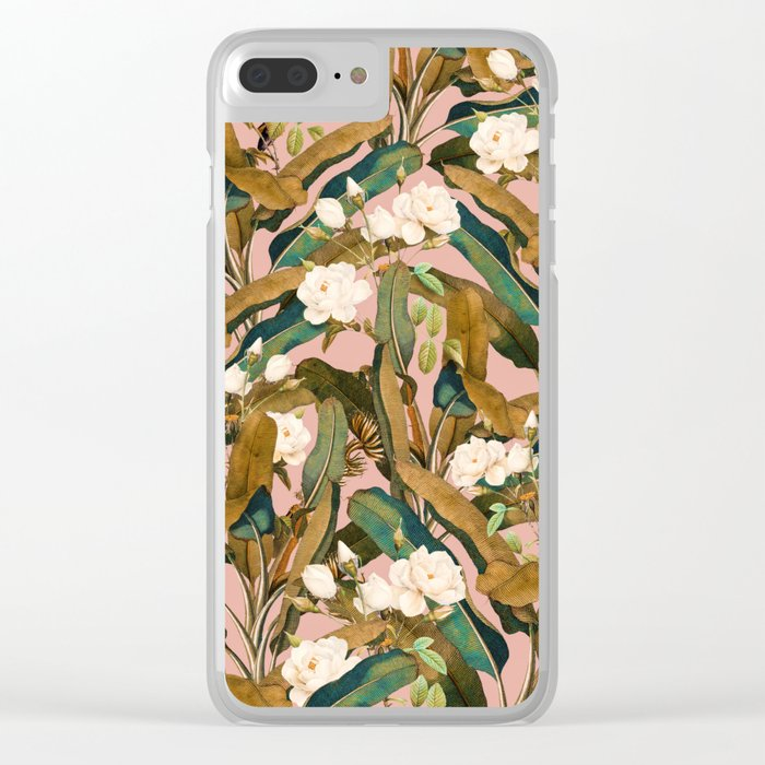 Summer Botanical Garden V Clear iPhone Case