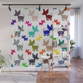 colorful chihuahuas on parade  Wall Mural