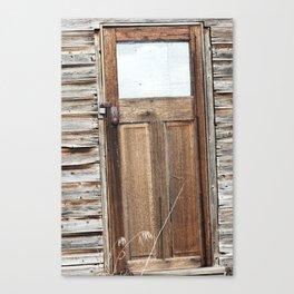 Smokey Lake Farm Door 1 Canvas Print