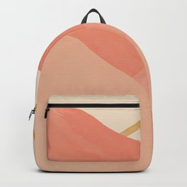 Mountains In Pink Backpack