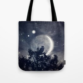 A Night With Venus and Jupiter Tote Bag