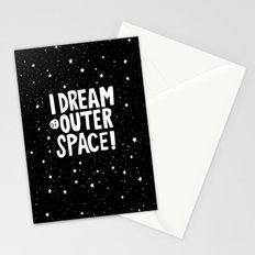 I Dream of Outer Space Stationery Cards