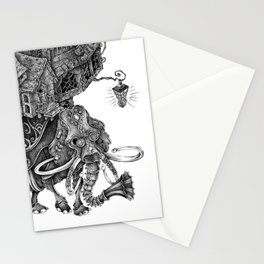 the wandering library 2 Stationery Cards