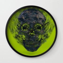 Skull Explotion Wall Clock
