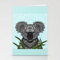koala Stationery Cards featuring Koala by ArtLovePassion