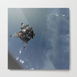 Apollo 9 - Lunar Module Over Earth Metal Print
