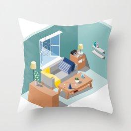 BTS - Isometric Serendipity Throw Pillow