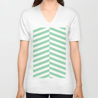 mint V-neck T-shirts featuring mint by Amber Gilded