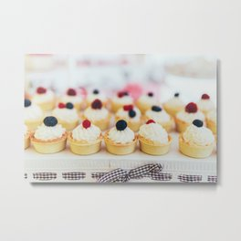 Fruit Cupcake Cookies At Wedding Candy Bar Metal Print