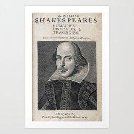 William Shakespeare Portrait Art Print
