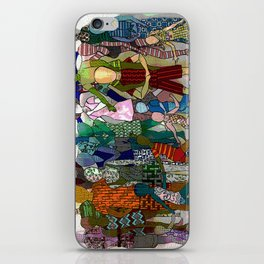 To the Beach by Lesley Nolan iPhone Skin