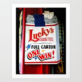 Lucky's Cigarettes Art Print