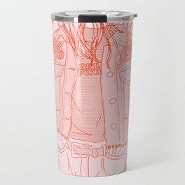 rose embroideries Travel Mug