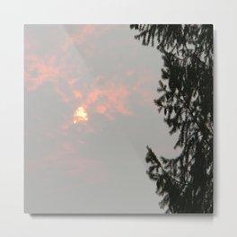 Smokey Sun in the mountains.. Metal Print