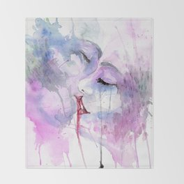 """Watercolor Painting of Picture """"Passion"""" Throw Blanket"""