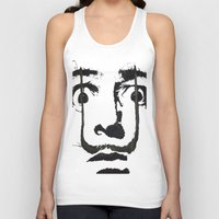inspirational Tank Tops featuring I am drugs ( Salvador Dali ) by Black Neon