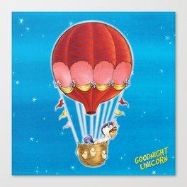 Goodnight Unicorn Balloon Kid Canvas Print