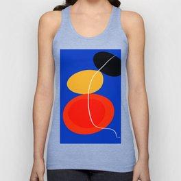 red yellow black blue abstract zen minimal art Unisex Tank Top