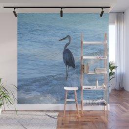 Oceans Great Blue Heron Wall Mural