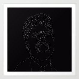 Lineart Little Richard Art Print