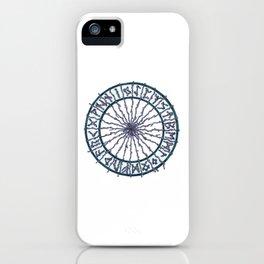 Elder Futhark Rune Wheel iPhone Case