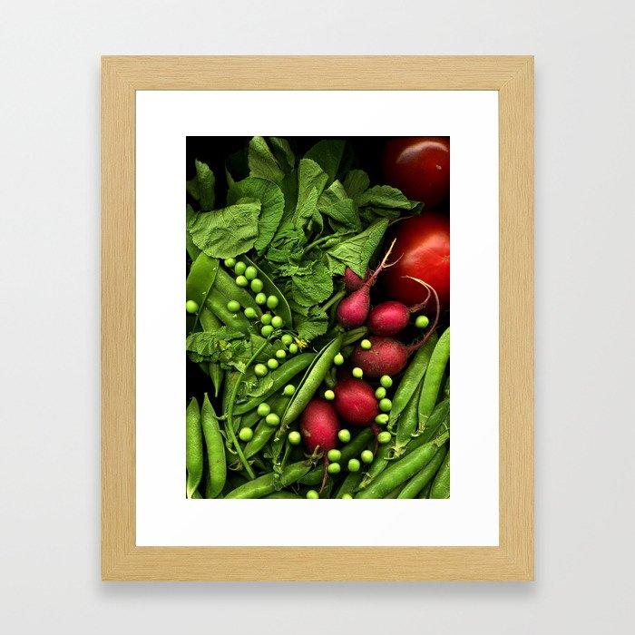 Summer Salad Framed Art Print