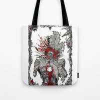 mad hatter Tote Bags featuring Mad Hatter by Mongolizer