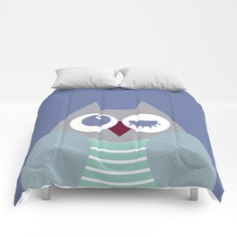 Owl dotty blue  Comforters