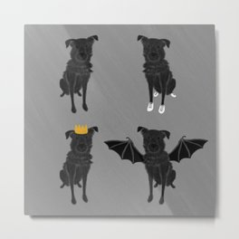 Vicky (Black Mixed Breed Dog from Pack o' Dogs) Metal Print