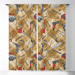 Household Tools Plaid Blackout Curtain
